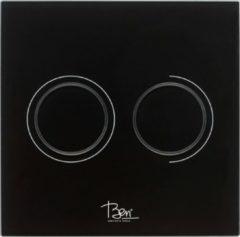 Ben Pure bedieningspaneel 2-knops tbv BPF glas zwart