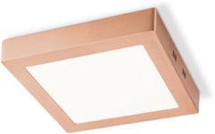 HOME SWEET HOME LED plafondlamp ska vierkant ↔ 22,5 cm koper