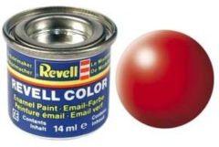 Rode Emaille kleur Revell Helder-rood (zijdeglans) 332 Doos 14 ml