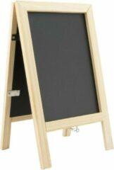 Zwarte Securit Mini krijt stoepbord met fotolijstje 25 cm