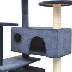 VidaXL Kattenkrabpaal met sisal krabpalen 125 cm donkerblauw