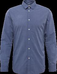 Donkerblauwe SELECTED HOMME, Herren Overhemd ´SHHONEMOONIE´, donkerblauw