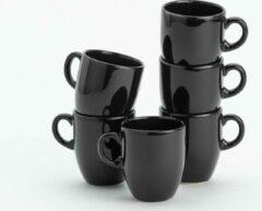 Lite-Body Hermes Koffie beker - 20cl - set van 6 suks - Mystique Zwart
