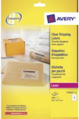 Laseretiket Avery 99,1x67,7mm transparant 25 vel 8 etiketten per vel AV-L7565-25