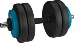 Blauwe Avento Halter Verstelbaar Kunststof - 15 kg - Zwart