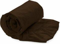 Bruine Kardol & Verstraten Hoeslaken Satijn - 90x210/220 cm - Dark Brown