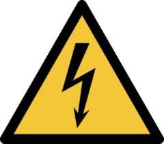 Gele Tarifold Pictogram bordje Waarschuwing: elektrische spanning | 200 * 176 mm - verpakt per 2 stuks