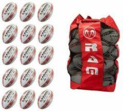 RAM Rugtby Squad rugbybal bundel - Trainingsbal - Met 2 Ballentassen - Maat 3 - 30 stuks