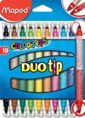 Maped Office Color'Peps goed uitwasbare viltstift - DUO TIP - in ophangdoos x 10