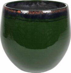 Donkergroene Plantenwinkel.nl Plantenwinkel Pot Charlotte groen ronde bloempot binnen 33 cm