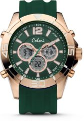 Colori Urban 5 CLD077 Digitaal Horloge - Siliconen Band - Ø 47 mm - Donker Groen