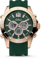 Colori Urban 5 CLD077 Digitaal Horloge - Siliconen Band - Ø 47 mm - Donker Groen