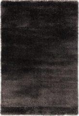 Antraciet-grijze Impression Rugs Pearl Effen Vloerkleed Antraciet Hoogpolig - 120x170 CM
