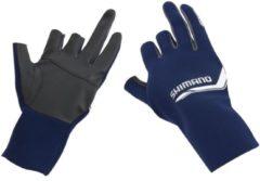 Marineblauwe Shimano pearl fit 5 finger handschoen XL
