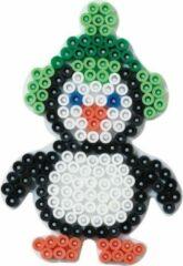 Witte Hama grondplaat voor strijkkralen winter pinguïn (strijkkralenbordje)