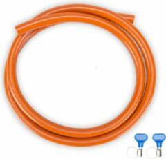 Oranje Gimeg Travellife Hogedruk Gasslang - 3 m Inclusief Slangklemmen