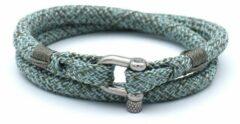 Blauwe MR. JACOB Ariny dubbele touw armband