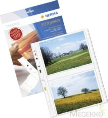 HERMA Fotophan transparent photo pockets 13x18 cm landscape white 250 pcs. (7564)