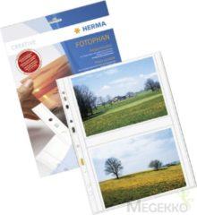 HERMA Fotophan transparent photo pockets 13x18 cm landscape white 250 pcs. (7564)