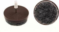 Verlofix Viltnagel Diameter 24mm Nylon Bruin 4stuks
