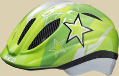KED Meggy Kinder Fahrradhelm Kopfumfang XS 44-49 green stars