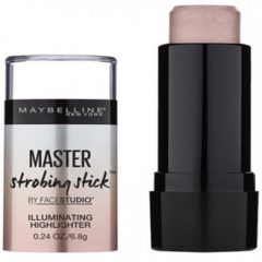 Roze Maybelline Face Studio Strobing Stick - 100 Light - Highlighter Stick met Crème Textuur (voorheen Master Strobing Stick)