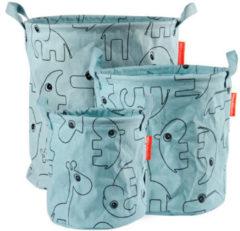 Blauwe Done by Deer - Storage baskets, Contour, 3 pcs, blue