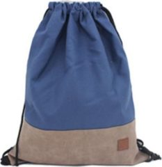 Trainingsrucksack Gymbag With Canvas and PU HTI-Living Navy