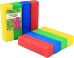 4x Gekleurde fantasie klei blokken 100 gram creatief speelgoed voor kinderen - Creatief speelgoed - Knutselen - Knutselmateriaal - Kleien