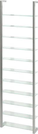 Afbeelding van Witte Spinder Design Cubic - Wandorganiser - Nikkel - Met 11 Schappen