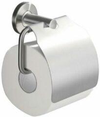 Mueller 304 toiletrolhouder met klep RVS
