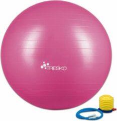 Tresko Fitnessbal met pomp - diameter 85 cm - Roze