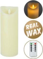 Creme witte O'DADDY LED Wax Kaars - Met Afstandbediening - creme - 22,5x8 cm