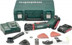 Multifunctioneel gereedschap incl. 2 accu's, incl. accessoires, incl. koffer 15-delig 18 V 2 Ah Metabo MT 18 LTX Compact 613021510
