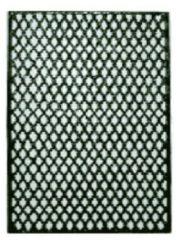 Zwarte Nostalux Deurrooster H:108 x B:67 Honingraad R 457 D