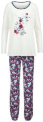 Schlafanzug Simone ecru/rot/marine