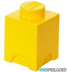 Gele Lego Storage brick - Geel - 12,5 cm x 12,5 cm - 18 cm - 1L2