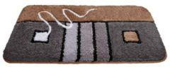 Bademattenserie 'Budweis' Webschatz braun/grau