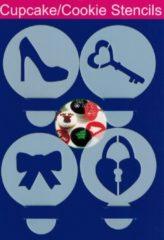 Nona Essentials Cupcake / Koekjes sjablonen - Sleutel / Hart