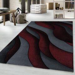 COSTA Impression Flow Design Laagpolig Vloerkleed Rood / Grijs / Zwart- 160x230 CM
