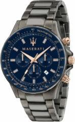Antraciet-grijze Maserati horloge