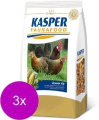 Kasper Faunafood Vitamix Kip - Kippenvoer - 3 x 3 kg