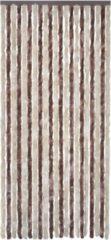 VidaXL - Klamboe Anti-insecten gordijn 100 x 220 cm chenille bruin-beige