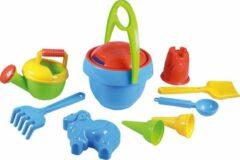 Blauwe Lena zandbakspeelset Happy Sand 10-delig jongens