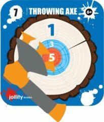 Jollity Works JollyPlay - Foam Bijl Met Zuignap - Inclusief Kartonnen Target