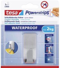 Zilveren 1x Tesa RVS haak waterproof Powerstrips - Klusbenodigdheden - Huishouden - Verwijderbare haken - Opplak haken 1 stuks