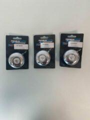 Premium Parts Fietsbel set van metaal (zilverkleurig) - set van 3 stuks