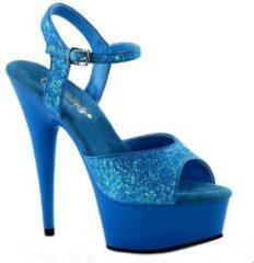 Fun & Feest party gadgets Neon blauwe glitter sandalen Caydence 38