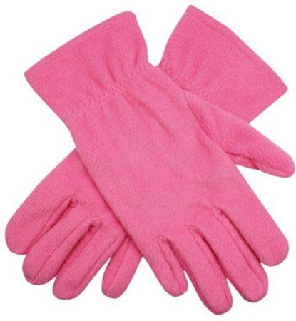 Afbeelding van Bellatio Roze fleece handschoenen M/l