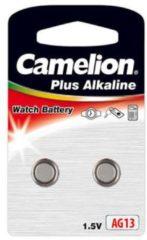 Konnoc Camelion Plus Alkaline Horloge knoopcellen AG13 / LR44 / V13GA / LR1154 - 2 batterijen